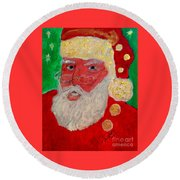 First Santa Claus 1773 Round Beach Towel