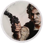 First Shot - Han Solo Round Beach Towel