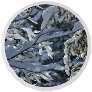 First Snow II Round Beach Towel