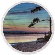 First Sunset Round Beach Towel