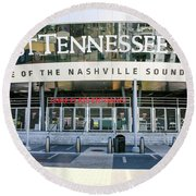 First Tennessee Park, Nashville Round Beach Towel
