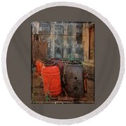 Round Beach Towel featuring the photograph Fish Barrels by Thom Zehrfeld