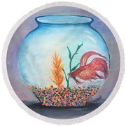 Fish Bowl Round Beach Towel