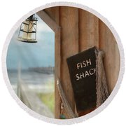 Fish Fileted Round Beach Towel