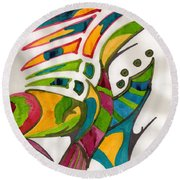 Fish Fins Round Beach Towel