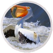 Fish For Dinner Round Beach Towel