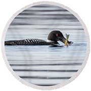 Fish For Lunch Round Beach Towel
