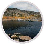 Fish Lake Ut Round Beach Towel by Cindy Murphy - NightVisions