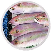 Fish Market Round Beach Towel
