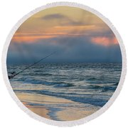 Round Beach Towel featuring the photograph Fish On In Alabama  by John McGraw