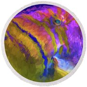 Round Beach Towel featuring the photograph Fish Paint Dory Nemo by David Haskett