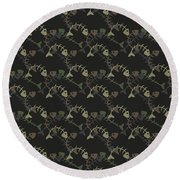 Fish Pattern  Round Beach Towel by Mark Ashkenazi