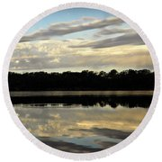 Round Beach Towel featuring the photograph Fish Ring by Chris Berry
