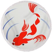 Fish Swish Round Beach Towel