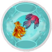 Fish Bowl Fantasy Round Beach Towel