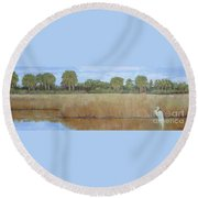 Fisher King Round Beach Towel