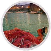 Fisherman's Net Round Beach Towel