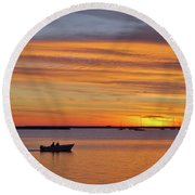 Fisherman's Return Round Beach Towel
