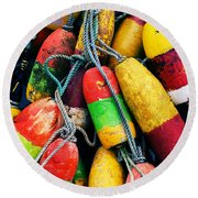 Fishermen's Floats Round Beach Towel