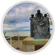 Round Beach Towel featuring the photograph Fishermen's Memorial by Gary Hall