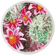 Fishhook Beauty Round Beach Towel
