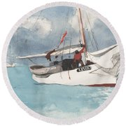 Fishing Boats, Key West, 1903 Round Beach Towel