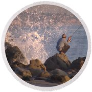 Fishing Round Beach Towel by Chris Tarpening