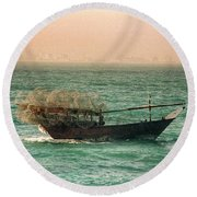 Fishing Dhow Round Beach Towel
