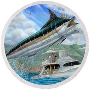 Fishing In The Vintage Round Beach Towel