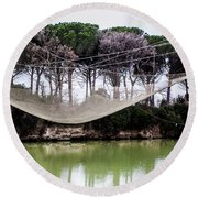 Fishing Net Round Beach Towel by Ana Mireles