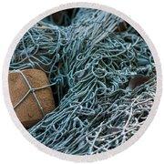Fishing Nets Round Beach Towel