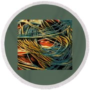Fishing  Rope  Round Beach Towel by Colette V Hera Guggenheim