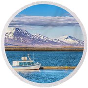 Fishing Round Beach Towel by Wade Courtney