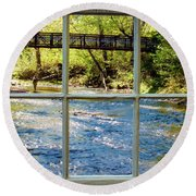 Fishing Window Round Beach Towel