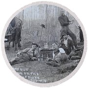 Fishing With The Boys Round Beach Towel