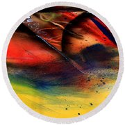 Fishtail Abstract Round Beach Towel