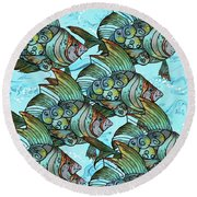 Fishy Fishy Round Beach Towel