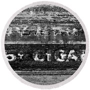 Five Cent Cigar Round Beach Towel