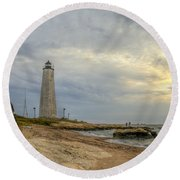 Five Mile Point Round Beach Towel