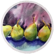 Five Pears Round Beach Towel