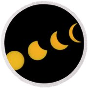 Five Phases Of The Eclipse Round Beach Towel