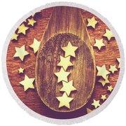 Five Stars Quality Food Service  Round Beach Towel