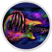 Five String Bass Round Beach Towel