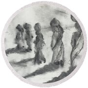 Five Women Immigrants Round Beach Towel