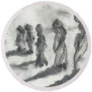 Five Women Immigrants Round Beach Towel