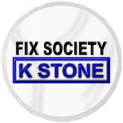 Fix Society 2nd Edition Round Beach Towel