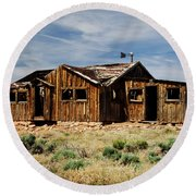 Fixer-upper Round Beach Towel by Kathy McClure