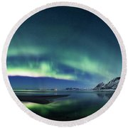Fjord Panorama Round Beach Towel