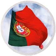 Flag Of Portugal Round Beach Towel