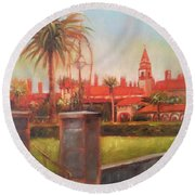 Flagler College Round Beach Towel by Mary Hubley